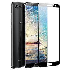 Schutzfolie Full Coverage Displayschutzfolie Panzerfolie Skins zum Aufkleben Gehärtetes Glas Glasfolie für Huawei Nova 2S Schwarz