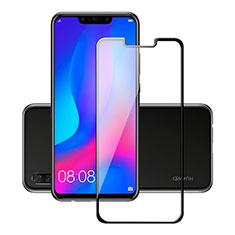 Schutzfolie Full Coverage Displayschutzfolie Panzerfolie Skins zum Aufkleben Gehärtetes Glas Glasfolie für Huawei P Smart+ Plus Schwarz