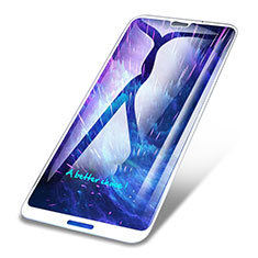 Schutzfolie Full Coverage Displayschutzfolie Panzerfolie Skins zum Aufkleben Gehärtetes Glas Glasfolie für Huawei P20 Lite Weiß