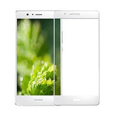 Schutzfolie Full Coverage Displayschutzfolie Panzerfolie Skins zum Aufkleben Gehärtetes Glas Glasfolie für Huawei P9 Lite Weiß
