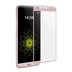 Schutzfolie Full Coverage Displayschutzfolie Panzerfolie Skins zum Aufkleben Gehärtetes Glas Glasfolie für LG G5 Rosa