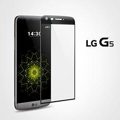 Schutzfolie Full Coverage Displayschutzfolie Panzerfolie Skins zum Aufkleben Gehärtetes Glas Glasfolie für LG G5 Schwarz