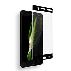 Schutzfolie Full Coverage Displayschutzfolie Panzerfolie Skins zum Aufkleben Gehärtetes Glas Glasfolie für Nokia 6 Schwarz