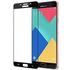 Schutzfolie Full Coverage Displayschutzfolie Panzerfolie Skins zum Aufkleben Gehärtetes Glas Glasfolie für Samsung Galaxy A3 (2016) SM-A310F Schwarz