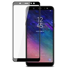 Schutzfolie Full Coverage Displayschutzfolie Panzerfolie Skins zum Aufkleben Gehärtetes Glas Glasfolie für Samsung Galaxy A6 Plus (2018) Schwarz