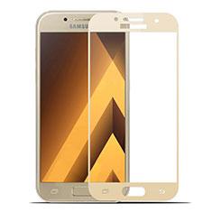 Schutzfolie Full Coverage Displayschutzfolie Panzerfolie Skins zum Aufkleben Gehärtetes Glas Glasfolie für Samsung Galaxy A7 (2017) A720F Gold