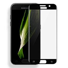 Schutzfolie Full Coverage Displayschutzfolie Panzerfolie Skins zum Aufkleben Gehärtetes Glas Glasfolie für Samsung Galaxy A7 (2017) A720F Schwarz