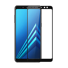 Schutzfolie Full Coverage Displayschutzfolie Panzerfolie Skins zum Aufkleben Gehärtetes Glas Glasfolie für Samsung Galaxy A8 (2018) A530F Schwarz