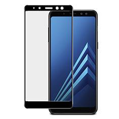 Schutzfolie Full Coverage Displayschutzfolie Panzerfolie Skins zum Aufkleben Gehärtetes Glas Glasfolie für Samsung Galaxy A8+ A8 Plus (2018) Duos A730F Schwarz