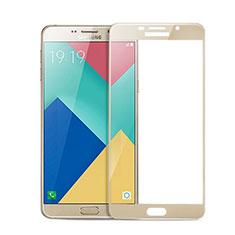 Schutzfolie Full Coverage Displayschutzfolie Panzerfolie Skins zum Aufkleben Gehärtetes Glas Glasfolie für Samsung Galaxy A9 Pro (2016) SM-A9100 Gold
