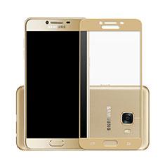 Schutzfolie Full Coverage Displayschutzfolie Panzerfolie Skins zum Aufkleben Gehärtetes Glas Glasfolie für Samsung Galaxy C7 SM-C7000 Gold