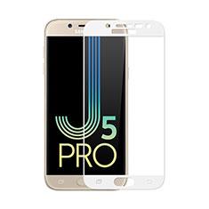 Schutzfolie Full Coverage Displayschutzfolie Panzerfolie Skins zum Aufkleben Gehärtetes Glas Glasfolie für Samsung Galaxy J5 (2017) SM-J750F Weiß
