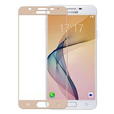 Schutzfolie Full Coverage Displayschutzfolie Panzerfolie Skins zum Aufkleben Gehärtetes Glas Glasfolie für Samsung Galaxy J5 Prime G570F Gold