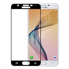 Schutzfolie Full Coverage Displayschutzfolie Panzerfolie Skins zum Aufkleben Gehärtetes Glas Glasfolie für Samsung Galaxy J5 Prime G570F Schwarz