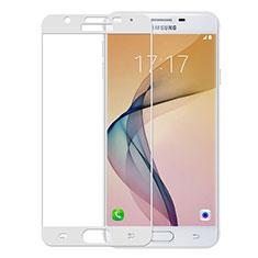 Schutzfolie Full Coverage Displayschutzfolie Panzerfolie Skins zum Aufkleben Gehärtetes Glas Glasfolie für Samsung Galaxy J5 Prime G570F Weiß