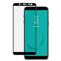 Schutzfolie Full Coverage Displayschutzfolie Panzerfolie Skins zum Aufkleben Gehärtetes Glas Glasfolie für Samsung Galaxy J6 (2018) J600F Schwarz