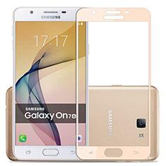 Schutzfolie Full Coverage Displayschutzfolie Panzerfolie Skins zum Aufkleben Gehärtetes Glas Glasfolie für Samsung Galaxy J7 Prime Gold