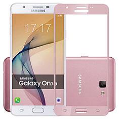 Schutzfolie Full Coverage Displayschutzfolie Panzerfolie Skins zum Aufkleben Gehärtetes Glas Glasfolie für Samsung Galaxy J7 Prime Rosa