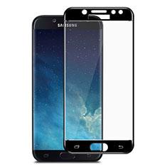 Schutzfolie Full Coverage Displayschutzfolie Panzerfolie Skins zum Aufkleben Gehärtetes Glas Glasfolie für Samsung Galaxy J7 Pro Schwarz