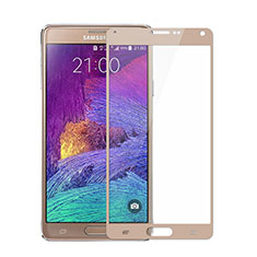 Schutzfolie Full Coverage Displayschutzfolie Panzerfolie Skins zum Aufkleben Gehärtetes Glas Glasfolie für Samsung Galaxy Note 4 SM-N910F Gold
