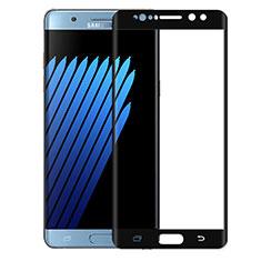 Schutzfolie Full Coverage Displayschutzfolie Panzerfolie Skins zum Aufkleben Gehärtetes Glas Glasfolie für Samsung Galaxy Note 7 Schwarz