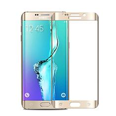 Schutzfolie Full Coverage Displayschutzfolie Panzerfolie Skins zum Aufkleben Gehärtetes Glas Glasfolie für Samsung Galaxy S6 Edge+ Plus SM-G928F Gold