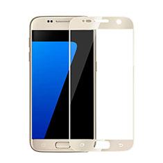 Schutzfolie Full Coverage Displayschutzfolie Panzerfolie Skins zum Aufkleben Gehärtetes Glas Glasfolie für Samsung Galaxy S6 SM-G920 Gold