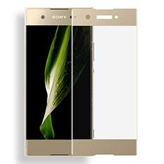 Schutzfolie Full Coverage Displayschutzfolie Panzerfolie Skins zum Aufkleben Gehärtetes Glas Glasfolie für Sony Xperia XA1 Gold