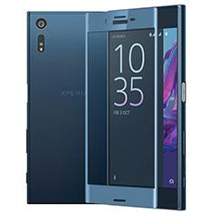 Schutzfolie Full Coverage Displayschutzfolie Panzerfolie Skins zum Aufkleben Gehärtetes Glas Glasfolie für Sony Xperia XZ Blau