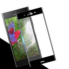 Schutzfolie Full Coverage Displayschutzfolie Panzerfolie Skins zum Aufkleben Gehärtetes Glas Glasfolie für Sony Xperia XZ1 Schwarz