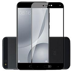 Schutzfolie Full Coverage Displayschutzfolie Panzerfolie Skins zum Aufkleben Gehärtetes Glas Glasfolie für Xiaomi Mi 5C Schwarz