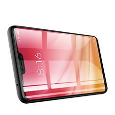 Schutzfolie Full Coverage Displayschutzfolie Panzerfolie Skins zum Aufkleben Gehärtetes Glas Glasfolie für Xiaomi Mi 8 Lite Schwarz