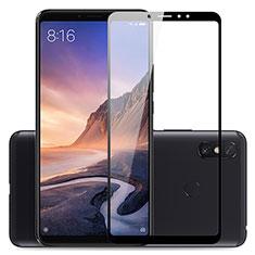 Schutzfolie Full Coverage Displayschutzfolie Panzerfolie Skins zum Aufkleben Gehärtetes Glas Glasfolie für Xiaomi Mi Max 3 Schwarz
