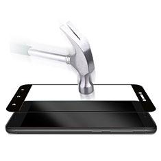 Schutzfolie Full Coverage Displayschutzfolie Panzerfolie Skins zum Aufkleben Gehärtetes Glas Glasfolie für Xiaomi Redmi 4X Schwarz