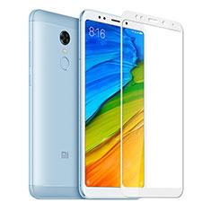Schutzfolie Full Coverage Displayschutzfolie Panzerfolie Skins zum Aufkleben Gehärtetes Glas Glasfolie für Xiaomi Redmi 5 Plus Weiß