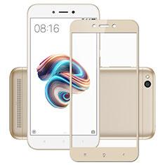 Schutzfolie Full Coverage Displayschutzfolie Panzerfolie Skins zum Aufkleben Gehärtetes Glas Glasfolie für Xiaomi Redmi 5A Gold