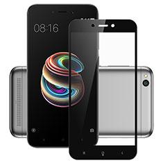 Schutzfolie Full Coverage Displayschutzfolie Panzerfolie Skins zum Aufkleben Gehärtetes Glas Glasfolie für Xiaomi Redmi 5A Schwarz