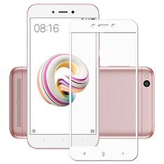 Schutzfolie Full Coverage Displayschutzfolie Panzerfolie Skins zum Aufkleben Gehärtetes Glas Glasfolie für Xiaomi Redmi 5A Weiß