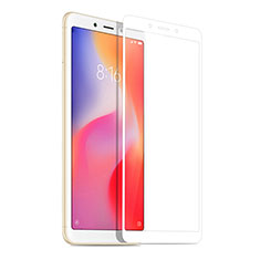 Schutzfolie Full Coverage Displayschutzfolie Panzerfolie Skins zum Aufkleben Gehärtetes Glas Glasfolie für Xiaomi Redmi 6A Weiß