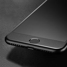 Schutzfolie Full Coverage Displayschutzfolie Panzerfolie Skins zum Aufkleben Gehärtetes Glas Glasfolie G01 für Apple iPhone SE (2020) Schwarz