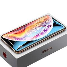 Schutzfolie Full Coverage Displayschutzfolie Panzerfolie Skins zum Aufkleben Gehärtetes Glas Glasfolie P02 für Apple iPhone Xs Schwarz