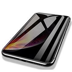 Schutzfolie Full Coverage Displayschutzfolie Panzerfolie Skins zum Aufkleben Gehärtetes Glas Glasfolie P03 für Apple iPhone Xs Max Schwarz