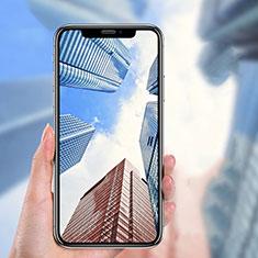 Schutzfolie Full Coverage Displayschutzfolie Panzerfolie Skins zum Aufkleben Gehärtetes Glas Glasfolie P04 für Apple iPhone Xs Schwarz