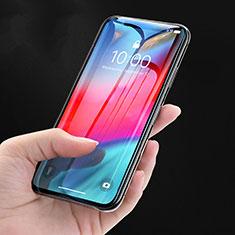 Schutzfolie Full Coverage Displayschutzfolie Panzerfolie Skins zum Aufkleben Gehärtetes Glas Glasfolie P08 für Apple iPhone X Schwarz