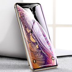 Schutzfolie Full Coverage Displayschutzfolie Panzerfolie Skins zum Aufkleben Gehärtetes Glas Glasfolie P08 für Apple iPhone Xs Max Schwarz