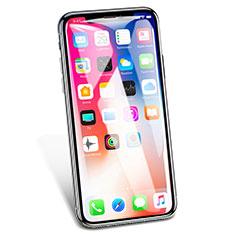 Schutzfolie Full Coverage Displayschutzfolie Panzerfolie Skins zum Aufkleben Gehärtetes Glas Glasfolie V02 für Apple iPhone Xs Weiß