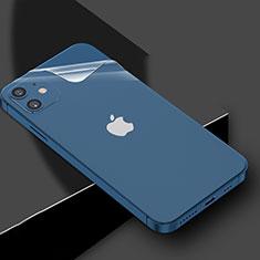 Schutzfolie Schutz Folie Rückseite Skins zum Aufkleben Panzerglas für Apple iPhone 12 Klar