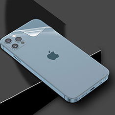 Schutzfolie Schutz Folie Rückseite Skins zum Aufkleben Panzerglas für Apple iPhone 12 Pro Klar