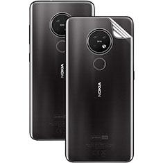 Schutzfolie Schutz Folie Rückseite Skins zum Aufkleben Panzerglas für Nokia 7.2 Klar