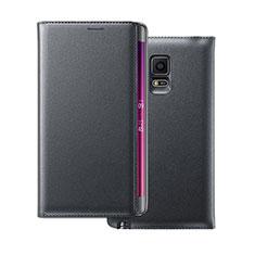 Schutzhülle Flip Tasche Leder für Samsung Galaxy Note Edge SM-N915F Schwarz